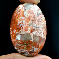 Cts. 55.35 Natural Laguna Lace Agate Cabochon Oval Cab Exclusive Loose Gemstone