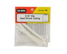 "DU-BRO 3x 3/16"" Diameter x 76mm Heat Shrink Tubing - CatNo438"