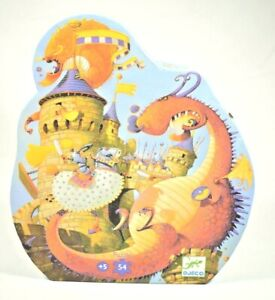Djeco - Vaillant & the Dragon  54 Piece Jigsaw Puzzle (Large Pieces) 14.5 x 15.7