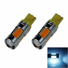2x Yellow T10 W5W 5SMD COB LED 3.5W Car Clearance Lamp Roof Light Reading Bulb