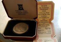 1979 ISLE OF MAN - CROWN - 300 YRS. MANX - 1 Oz PROOF SILVER - POBJOY MINT w COA