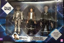 Doctor Who Series Six 3-Pack Cowboy Hat Silent Corroded Cyberman Action Figures