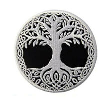 Iron or Sew On Embroidered Patch Celtic Norse Tree of Life 7 cm