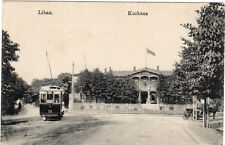 AK Libau Kurhaus Lettland Strassen-Bahn 1917 Feldpost 1.WK Zensuren PÜST Verzöge