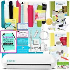 Silhouette Portrait 2 Cutting Machine Bundle with 4 Starter Kits & Starter Guide