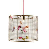 Resin Birds Chandelier Light Cage Hallway Lighting Bedroom Ceiling Pendant Lamp