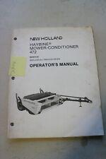 New Holland 472 Haybine Operators Manual