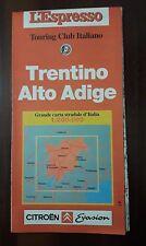 D24> Carta stradale Trentino Alto Adige - Touring Club Italiano anno 1987