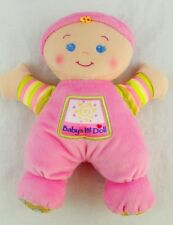 "2008 Fisher Price BABY'S 1ST FIRST DOLL Pink 10"" Rattle Plush"
