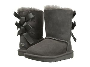 NEW TODDLER INFANTS UGG BOOT BAILEY BOW II GREY 100 % AUTHENTIC 1017394T GREY