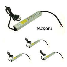 Pack of 4 - 12-Volt DC 30-Watt 2.5A Waterproof Power Supply Driver 3-Prong Plug