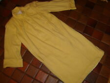 Oscar de la Renta sweater dress vintage T shape yellow lined 3/4 sleeve sz 4