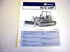 Fiat-Allis 10-C LGP Crawler Dozer Sales Brochure 1981 4 Pages