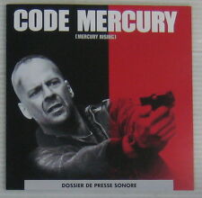 Code Mercury CD Promo Bruce Willis