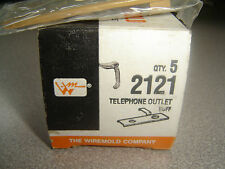 Wiremold 2121 Telephone Outlet Buff Color Sealed in Factory Plastic NOS