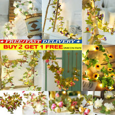 2M Flower Fairy LED String Lights Lamp Home Party Xmas Wedding Garden Door Decor