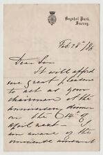 More details for prince arthur, duke of connaught signed letter - governor general of canada