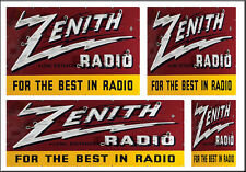 ZENITH RADIO STORE SIGNS HO SCALE WATERSLIDE BUILDING DIORAMA LAYOUT SIGNS HO101