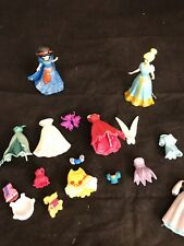 POLLY POCKET PRINCESS DISNEY Lot Magiclips Clothes Snow White Tinkerbell Dolls +