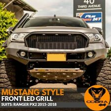 Front Mesh Grill Mustang Style LED Matte Black Fits Ford Ranger PX2 2015 - 2018