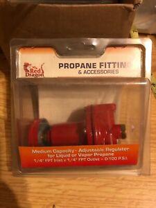 RED DRAGON 567RD  Medium Capacity Adjustable Regulator for Liquid/Vapor Propane