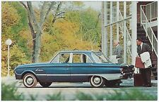 1962 Ford FALCON Fordor DELUXE Sedan Dealer NOS Promotional Postcard Unused Ex ^