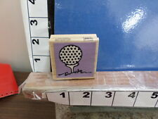 golf ball on tee swing put green rubber stamps 3z