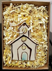 Church Handmade & Hand Painted Small Ornament by Kim Ries (Boxed)