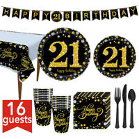 Birthday Party Tableware Kit Supplies Spoons Plates Napkins Table Cloth Banners