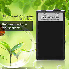 12000mA Super Polymer Lithium Ion Battery 12V Black Plastic Shell And Charger KG