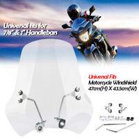 "Universal Motorcycle Windshield Windscreen Mounting Kit For 7/8"" & 1"" Handlebars"