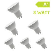 6 x 8W  GU10  LED-Strahler 230V Warmweiß Lampe Birne Spot