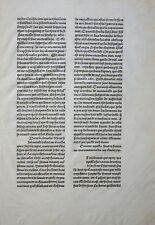 FRANZÖSISCHES INKUNABELBLATT MAJOR DE TRISTAN EN FRANCAIS ROUEN BOURGEOIS 1489