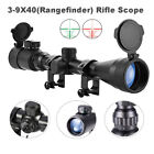 Pinty Rifle Scope Mil Dot Illuminated Red&Green 3-9X40 Optics Hunting Air Sniper