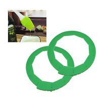 Adjustable Pie Crust Shield Protectors Green (2 Pack) Plus 1 Pastry Brush