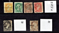 1870- CANADA (BNA) Victoria Small Queens P/Set of 6  Sc#25 Used