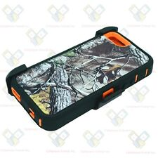 NEW Camo Orange Bg Tree for iPhone SE Defender Case w/Belt Clip&Screen Protector