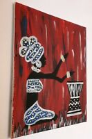 New Red Black White Woman Painting Wall Art Picture Gift Canvas present Luxury