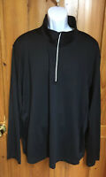 NWT Men's Xersion Fitted Fitness Training Workout 1/2 Zip Black Jacket Sz XXL