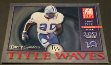 2001 Donruss Elite Title Waves Card #TW7 Barry Sanders Detroit Lions HOF #/1997