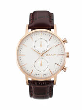 Gant Mens Watch Park Hill W11203 Analogue Chronograph Leather Brown