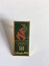 Atlanta Olympic Games 1996 ACOG Green Torch Logo Pin Coloured Torch