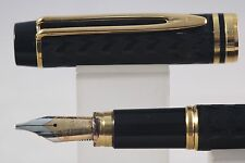 c1987 Waterman Le Man 100 Opera Broad Fountain Pen with Gold Trim