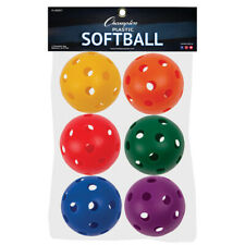 Champion Sports Plastic Balls Softball Size 6 Set