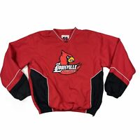 58 Sports Louisville Cardinals NCAA Mens Pullover Jacket Red Size Large L
