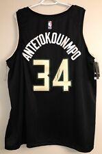 Giannis Antetokounmpo Autograph Bucks Signed NBA Auto Nike Statement Jersey JSA