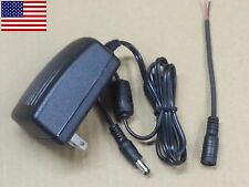 5V-2A Power Supply Wall Wart + Female Plug - 5VDC 5.5mm x 2.1mm Plug US SHIP