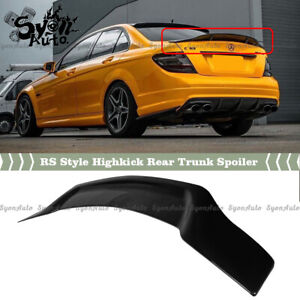 FIT 08-2014 MERCEDES BENZ W204 GLOSS BLACK RS STYLE HIGH KICK TRUNK SPOILER WING