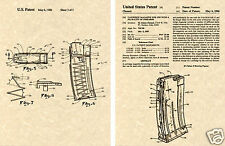 AR15 - M16 Magazine PATENT Art Print READY TO FRAME!!!!! AUTO US AR 15