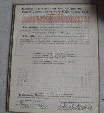 Rare 1954 Albany Boston Red Sox Minor League Baseball Player Contract
